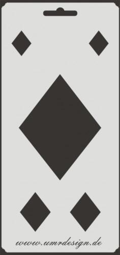 Scrapbooking galería de símbolos s-193 Karo ~ stencil ~ Conv-Design