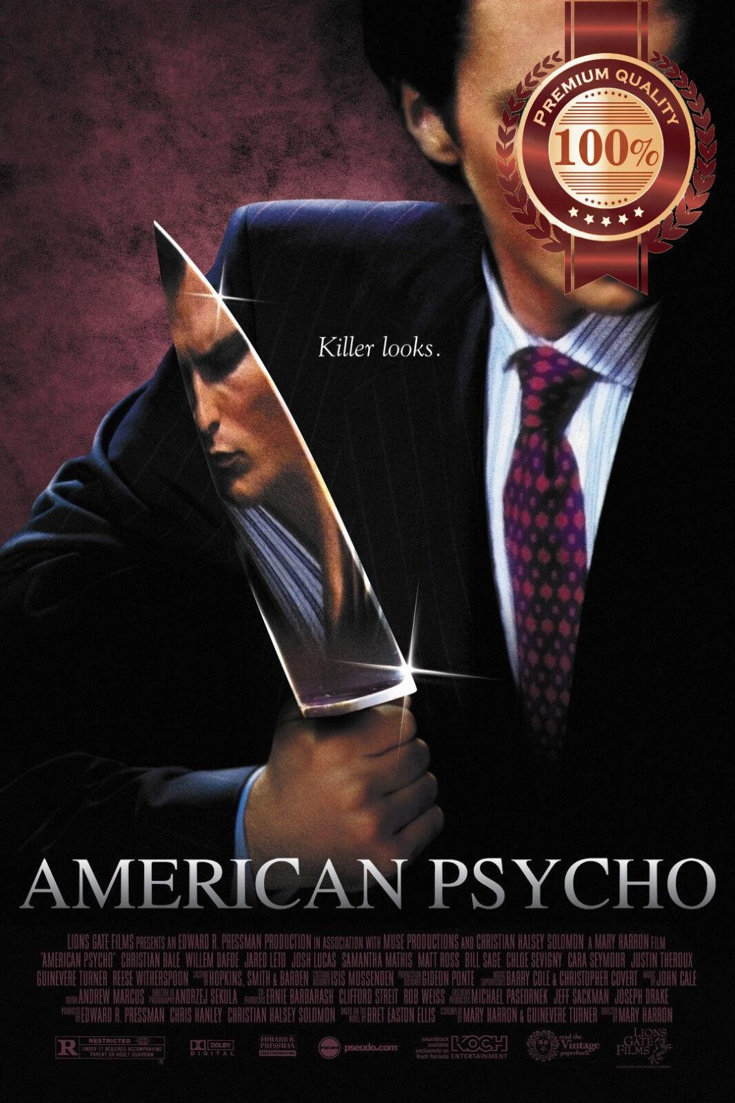 NEW AMERICAN PSYCHO CHRISTIAN BALE MOVIE ORIGINAL CINEMA PRINT PREMIUM POSTER