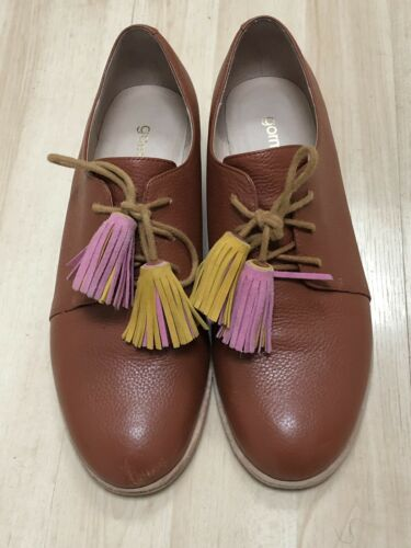 Gorman Brown Leather Shoes With Tassels