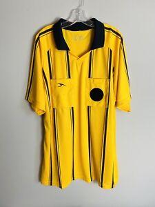 Soccer Referee Jersey Shirt Men's Size XXL Yellow Black Short Sleeve Game Shirt