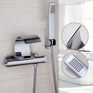 Détails sur Mural cascade baignoire robinet de mélangeur douchette détenus  chromé