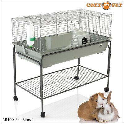 Rabbit Guinea Pig Indoor Cage By Cozy Pet 100cm Inc Stand Rat