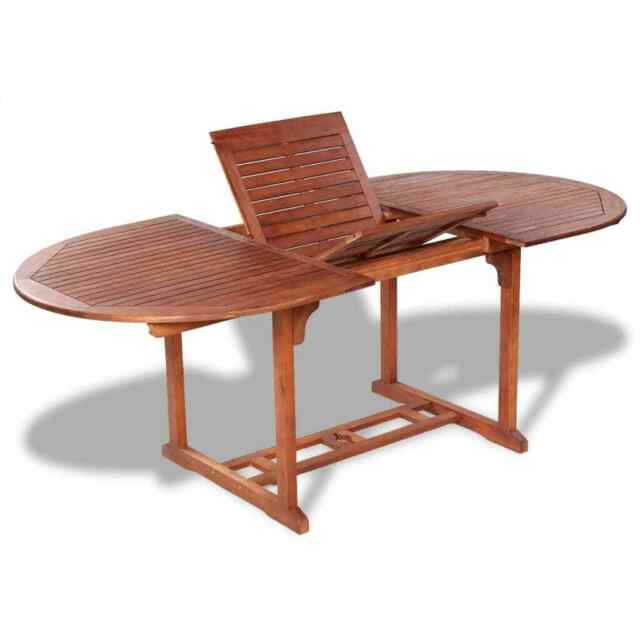 Cool Vidaxl Solid Acacia Wood Outdoor Dining Table Extendable Garden Furniture Machost Co Dining Chair Design Ideas Machostcouk