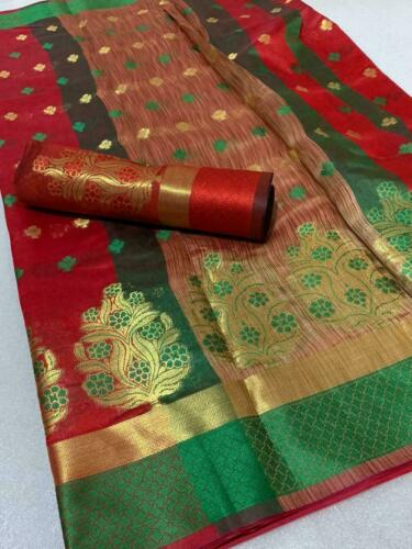 New Bollywood Banarasi Silk Saree Sari Ethnic Party Wear Kanchipuram Indian KK