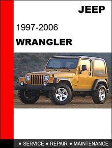 2002 2003 2004 2005 2006 Jeep Wrangler Service Repair Manual