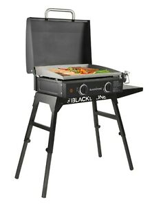 Table Top Griddle Grill 22 In. Portable Gas Hood Legs Bulk Hose Outdoor Cooking