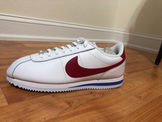 sneakers for cheap 5ea19 18fb1 Nike Cortez Basic Leather OG Forrest Gump White Red Blue 882254-164 Size 10