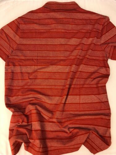 NWT $135 BOSS Hugo Boss Place03 Short Sleeve Red Cotton//Linen Polo Shirt