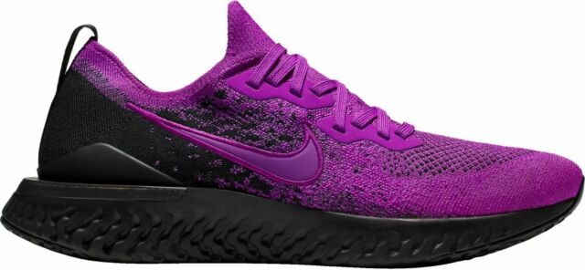 sports shoes e2053 56bad Nike Men's Epic React Flyknit 2 Running Shoes Purple/Black/Violet BQ8928-500