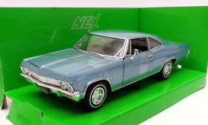 Welly 1/24 Scale Model Car 22417W - 1965 Chevrolet Impala SS 396 - Lgt Blue