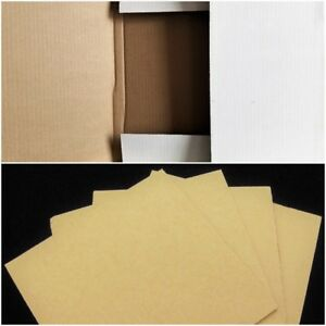"100 Record Mailers + 200 Pads Combo 12"" LP Vinyl Album Cardboard Shipping Boxes"