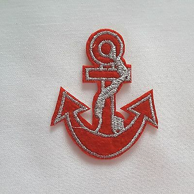 Blue Nautical Anchor Marine Army Navy Sailor Embroidery Iron-on Applique Patch
