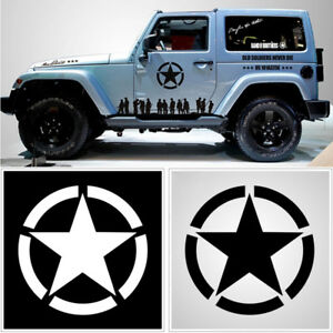 1xus Army Military Oscar Mike Jeep Wrangler Distressed Star Hood