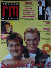 RECORD MIRROR 3/9/88 - SPANDAU BALLET - MATT BIANCO - YELLO