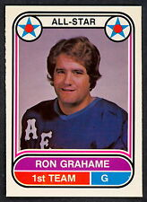 1975 76 OPC O PEE CHEE WHA #61 RON GRAHAME NM ALL STAR HOUSTON AEROS HOCKEY CARD