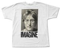 John Lennon imagine Photo White T-shirt Official Adult Beatles