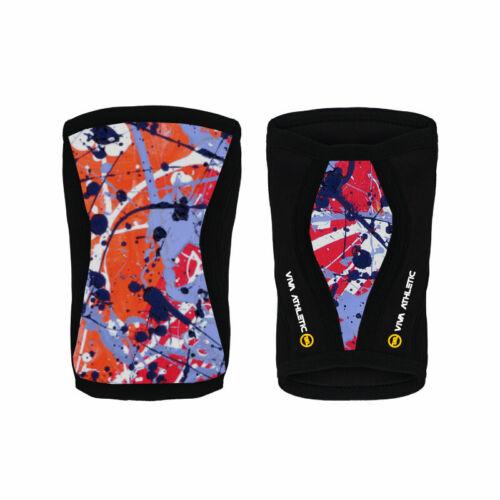 Details about  /Knee Sleeves 7mm Pair 2PC Squat Patella Leg Press Multi Sports Gym Strongman IPF
