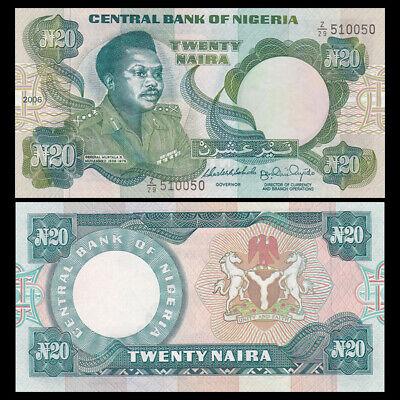 NIGERIA 20 NAIRA 2006 P 26k UNCIRCULATED