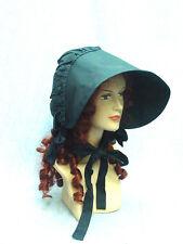 Frontier Pioneer Mormon Trek cotton sun bonnet black one size