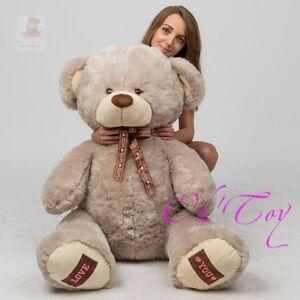 Teddybar-160-cm-BIG-XXL-RIESEN-XXL-Pluschbar-Pluschtier-Kuscheltier-LOVE-YOU