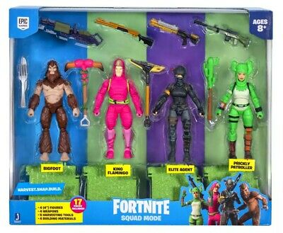 Fortnite Squad Mode High Stakes Wild Card 4 Figure Pack Toy NEW 2020