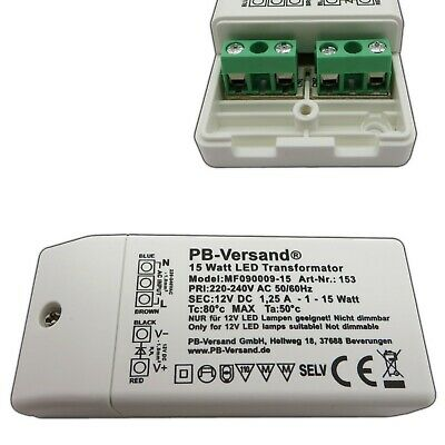 LED Trafo LED Transformator 12V DC SMD Treiber Driver Netzteil 36W f LED Leuchte
