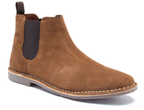 Red Tape Arizona Tan Suede Classic Chelsea Boots RRP £60 Free UK P/&P!