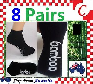 8Prs Mens Men Bamboo Low Cut Sport Ankle Cushion SOCKS Odor Resistant Size 11-14