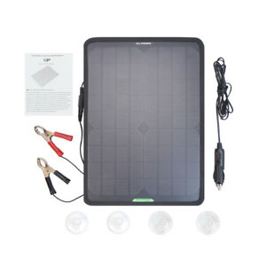 12V 10W Portable Solar Panel Power Battery Charger Backup for Car Marine Boat RV