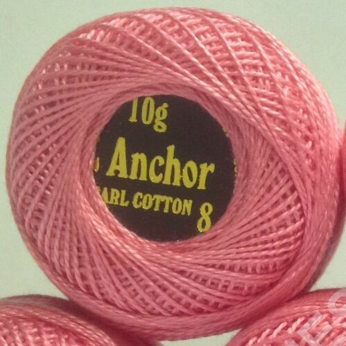 85 Meters each Best Bargain ANCHOR Pearl Cotton assorted Crochet Balls Thread