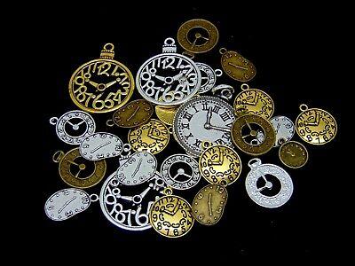 Gear Charm//Pendant Tibetan Steampunk Antique Bronze 25mm  8 Charms DIY Jewellery