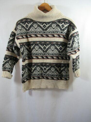 Vintage 80s turtleneck wool sweater oversize