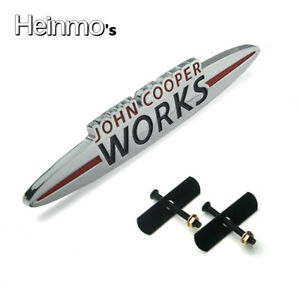 For-MINI-JOHN-COOPER-WORKS-JCW-Grill-Frontgrill-Metal-Emblem-Badge-Decal-Logo