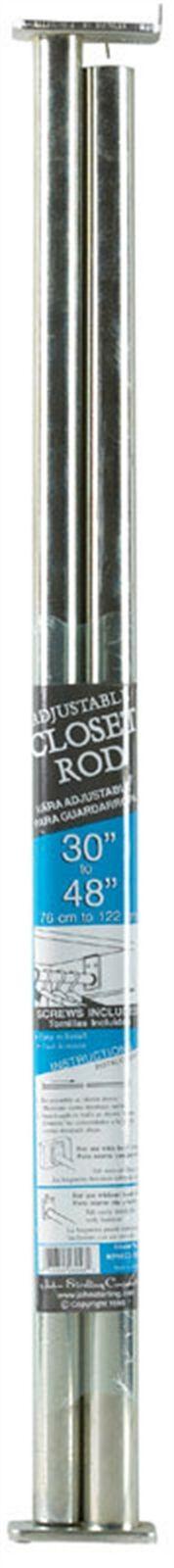 "John Sterling #RP-0022-30//48 30-48/"" ADJ Closet Rod,No RP-0022-30//48"