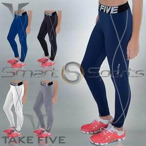Womens-Lightweight-Running-Fitness-Yoga-Pants-Baselayer-Long-Tights-Skins-Take-5