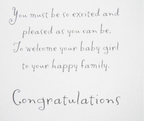 Baby Birth Congratulations Card Boy Girl Designs Card Pink Blue Various Designs