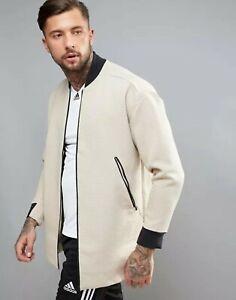 Details about Adidas originals long jacket bomber beigeblack show original title