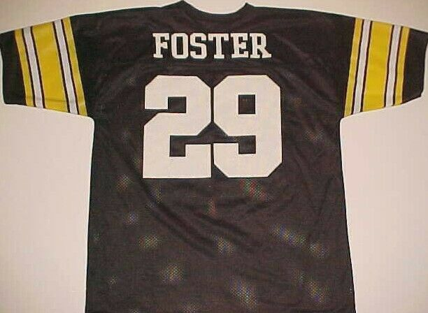 Barry Foster #29 Pittsburgh Steelers NFL AFC Vintage Black Yellow ...