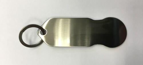 Edelstahl mit 12 Monaten Schlüsselschutz 50 x Einkaufswagenchip Metall