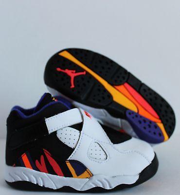 Nike Air Jordan VIII 8 Retro BT White//Infrared 23-Black 305360-142 Toddler SZ 7C