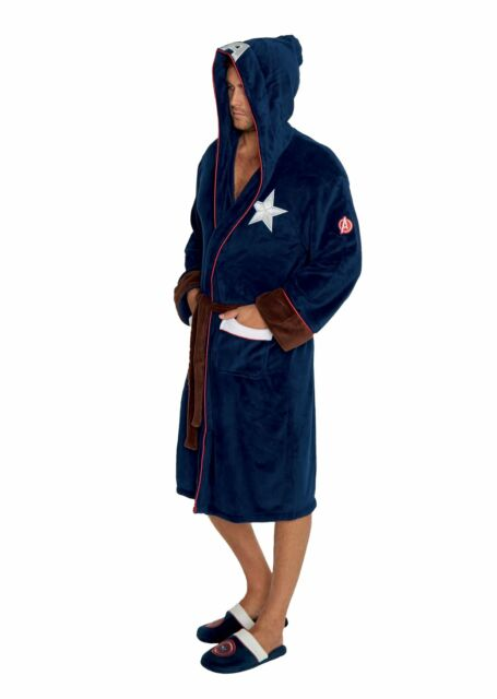 Size L//XL FREE S/&H Captain America Hooded Character Robe with Belt