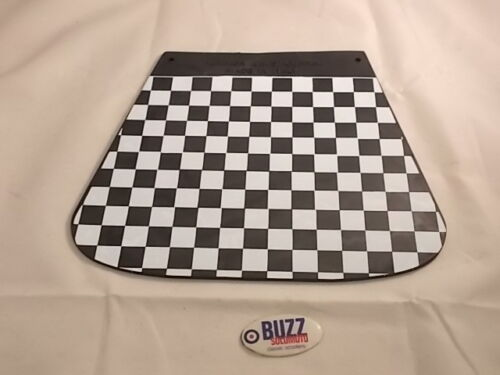 Mudflap Black White Check Italian Cuppini to suit Lambretta Scooter