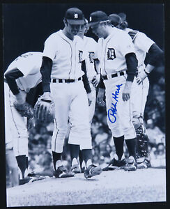 Ralph-Houk-Detroit-Tigers-Baseball-Autographed-Signed-8x10-B-amp-W-Photo