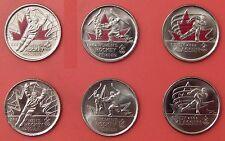 Brilliant Uncirculated 2009 Canada 6 Moments Color & Plain 25 Cents