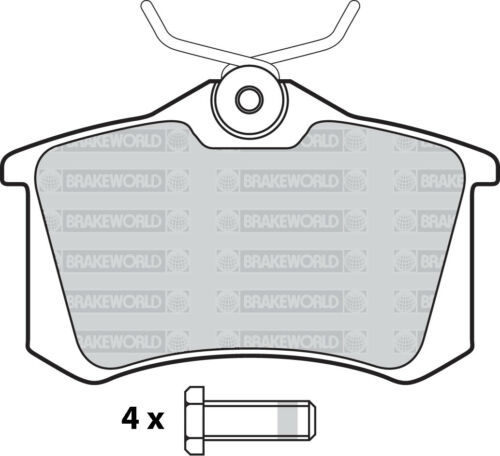 1Z OEM SPEC FRONT AND REAR DISCS PADS FOR SKODA OCTAVIA 1.6 TD 105 BHP 2009-13