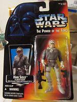 Star Wars The Power Of The Force Han Solo W/hoth Gear W/blaster Pistol