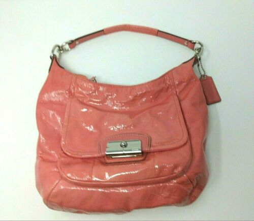 Vintage COACH Bag PINK Leather Hobo L1126-19299 KR