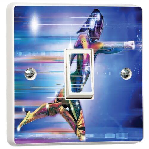 Superhero Abstract Art Light Commutateur Sticker Cover vinyle Skin Wall Décalque decor