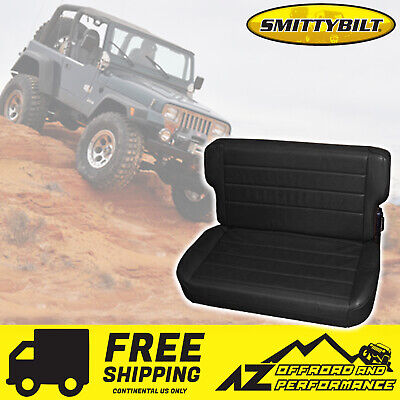 Smittybilt 41315 Seat Rear Fold /& Tumble Black Denim For 1986 Jeep CJ