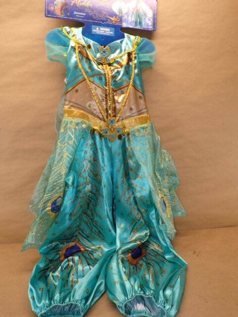 Disney Aladdin Princess Jasmine Green Costume 5-6 years brand new